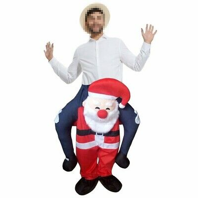 Carry Me Santa Claus Fancy Dress Adult Mascot Costume Party Clothing Christmas