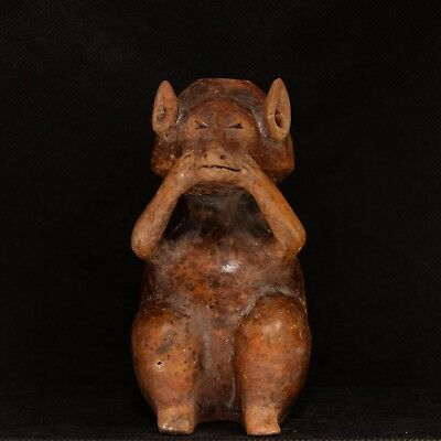 Pre-Columbian Maya Effigy Vessel of a Coatimundi Early Classic ca. A.D 250-450