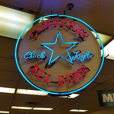 Vintage Chuck Taylor All Star neon sign