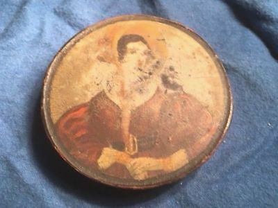 3 1/4 inch late 1700s early 1800s era  painted snuff box woman's portrait