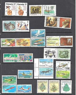 Canada SELECTION OF SETENANTS AND SETS USED (BS10427)