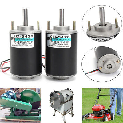 12/24V 30W Permanent Magnet DC Electric Motor High Speed CW/CCW DIY Generator