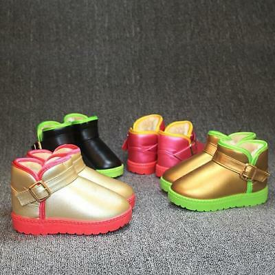 New Kids Girls Boys Color matching Winter Snow Boots Children Ankle Boots Size