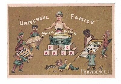 Soapine French Soap-Universal Family Ethnic Trade Card Charlotte Perkins Gilman
