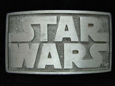 STAR WARS metal logo belt buckle Pewter The Last Jedi The Force Awaken Fast Ship