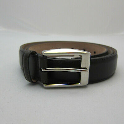 cc5a2a0144e J-2160979 New Gucci Brown Leather Silver Square Buckle Belt Size 44 Fits 42