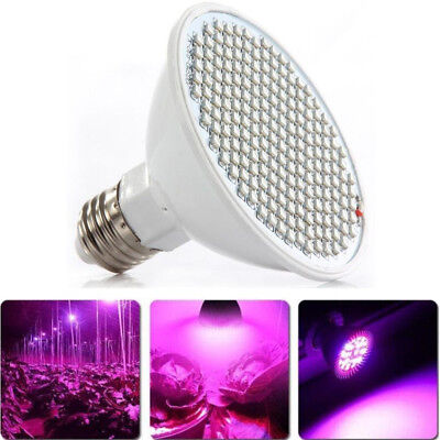 NEW Indoor Hydroponic Plant Full Spectrum Light Lamp Veg Flower Grow 200LED