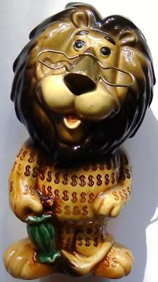 Hubert The Lion Coin Bank - Lefton - Mascot of Harris Bank / Chicago State Bank
