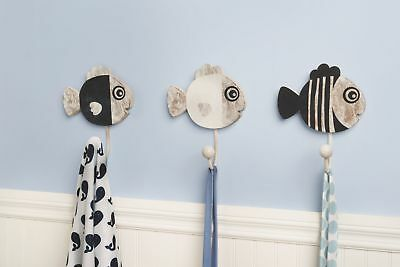 CoCaLo Mix & Match Wall Hooks, Fishes, 3 Count