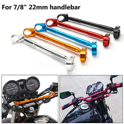 7/8″ 22mm Aluminum Handlebar Brace & Clamp Bar Universal Motorcycle Dirt Bike