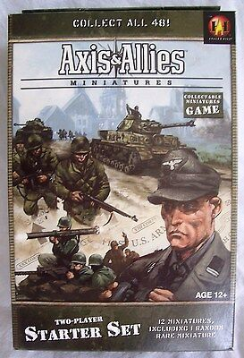 Axis & Allies Miniatures Two-Player STARTER SET (WOTC) - New & Sealed