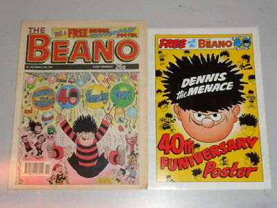 Beano #2539 16Th March 1991 British Weekly Dennis The Menace With Free Gift