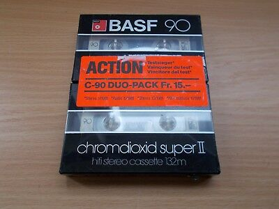 BASF chromdioxid super II Duo-Pack Neu & OVP / Sealed Kassette Tape