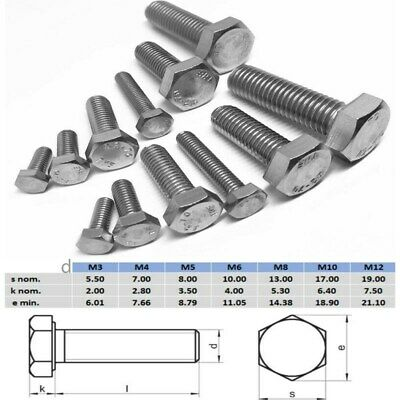 Hex Set Screw M6 M8 M10 M12 Bolt Stainless Steel 304 Metric Coarse