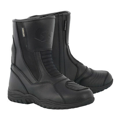 Oxford Hunter Black Motorcycle Motorbike Waterproof Leather Boots | All Sizes