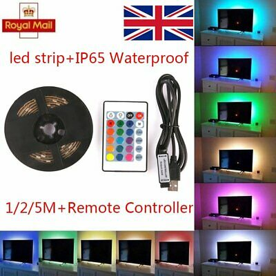 USB Mood Light RGB Multi Color LED Strip Light TV Backlight Remote Contral