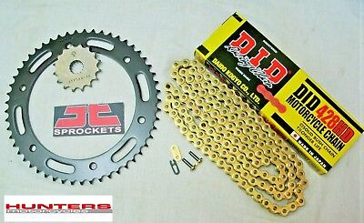 Yamaha XT125R DID Gold Heavy Duty Chain & JT Sprocket Kit Set (2008 to 2011)