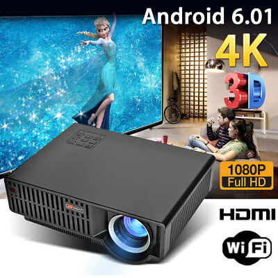 √5000 Lumen 1080P Full HD LED Projector Home Theater Cinema Wifi 3D For Android