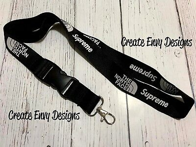 Supreme Collaboration Black Lanyard - Fast Shipping