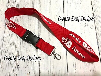 Supreme Collaboration Red Lanyard - Fast Shipping