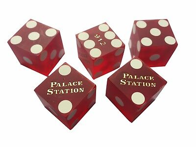20 Total Ellis Island Red Frosted Las Vegas Casino Dice.