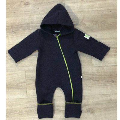 Zwergenkluft bubble.kid berlin Tec-Walkwolle Overall in navy