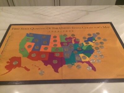 First State Quarters Of The United States Collectors Map - Us quarter collector map