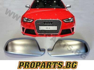 Audi A4 B8 12-15 S4 Rs4 S Line Look Set Mirror Covers Caps Casings