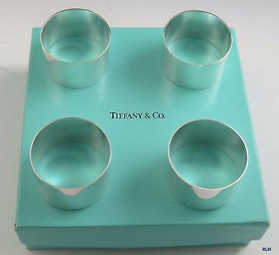 Tiffany & Co. Sterling Silver Napkin Rings Set of 4