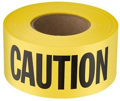 Yellow Plastic Caution Tape Ribbon 3x1000 Safety Warning Zone Barricade Banner