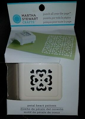 BRAND NEW!! Martha Stewart Crafts *Punch all Over the page* Petal Heart Pattern