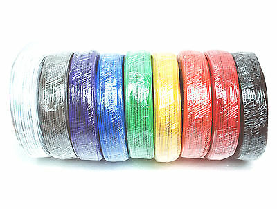 L= 10m PVC Single Copper Wire Tin Plated D=φ1mm 1mm 18AWG 105C 600V UL CSA RoHS