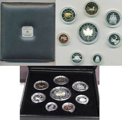 2001 Premium Eight Coin Proof Set with .9999 Fine Silver Hologram SML (10514)