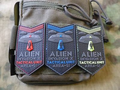 JTG  ALIEN INVASION X-Files patch Set / JTG 3D Rubber Patch