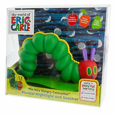 The Very Hungry Caterpillar Musical Nightlight and Soother Eric Carle NEW