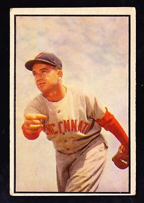 1953 Bowman Color #138 Bubba Church Cincinnati Reds Tuff High Number