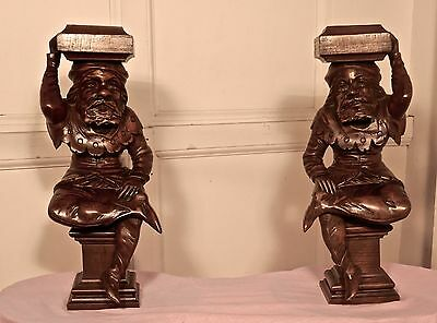 Pair of Early 19th Century Carved Walnut Figures