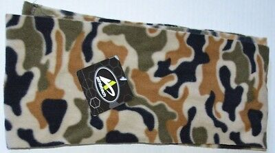New Green Camouflage Soft Fleece Winter Green Brown Black Scarf Boys L/XL (8-16)