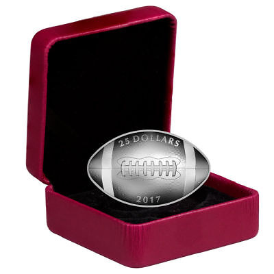 2017 Canada $25 1 oz Proof Silver Football-Shaped Coin (Mint Packaging) SKU43974