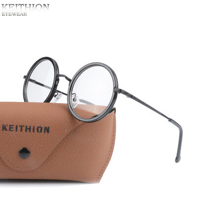 RETRO VINTAGE ROUND Mens Womens Eyeglasses Frame Spectacles Clear ...
