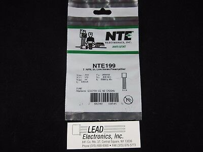 NTE199  NPN SILICON 70V IC-0.1A LO NOISE HI-GAIN PRE-AMP Authorized Distributor