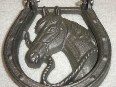 Door Knocker Silver Horsehead Cast Iron Home Decor Western Unique Country