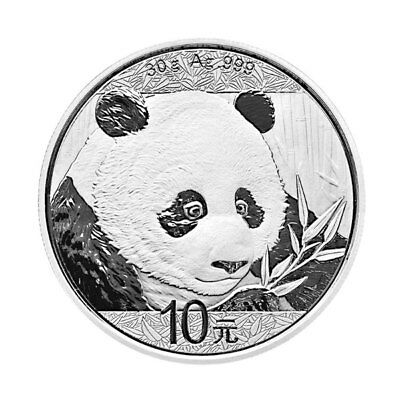 2018 China 30 g Silver Panda ¥10 Coin GEM BU PRESALE SKU50469