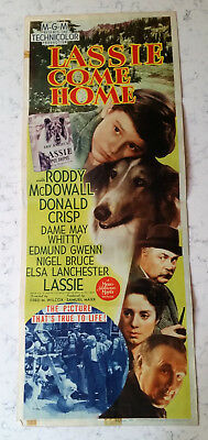 Vintage Original Movie Insert Poster Lassie Come Home 1943 Mgm
