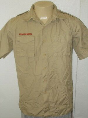 Boy Scouts Of America Beige Official Uniform Shirt  Men Medium