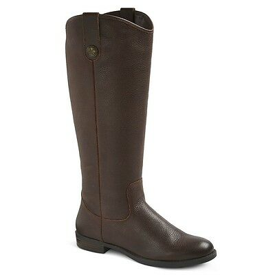 Womens Merona Kasia Genuine Tall Brown Leather Boots