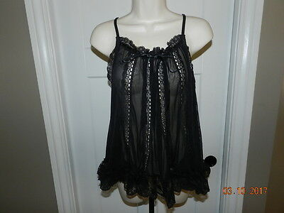 EUC Victorias Secret Lace Camisole Top Large Teddy Gown Sexy Little Things