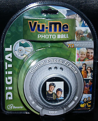 "Digital Photo Frame Golf Ball shape by: Vu-Me 1.5"" LCD White"