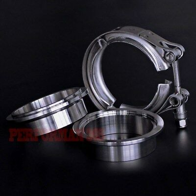 """2.75"""" inch 64mm V-Band Clamp Stainless Steel Flange for turbo exhaust downpipe"""