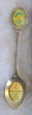 #706) Silver Plated Tea Spoon Queen Elizabeth The Queen Mother Wife Of George Vi